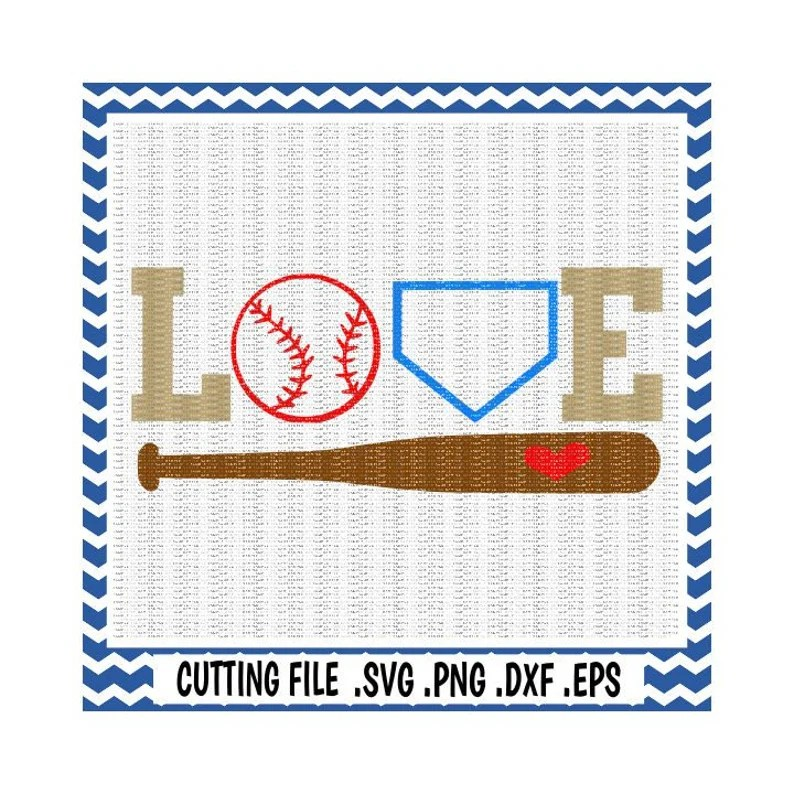 Download Baseball Svg Love Baseball baseball bat Svg-Dxf-Eps-Png   Etsy