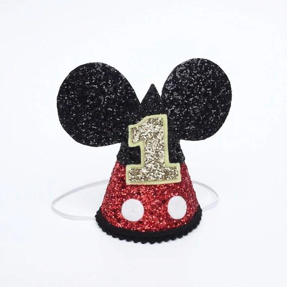 Mickey Mouse Birthday Hat Disney Birthday Party Hat Cake Etsy