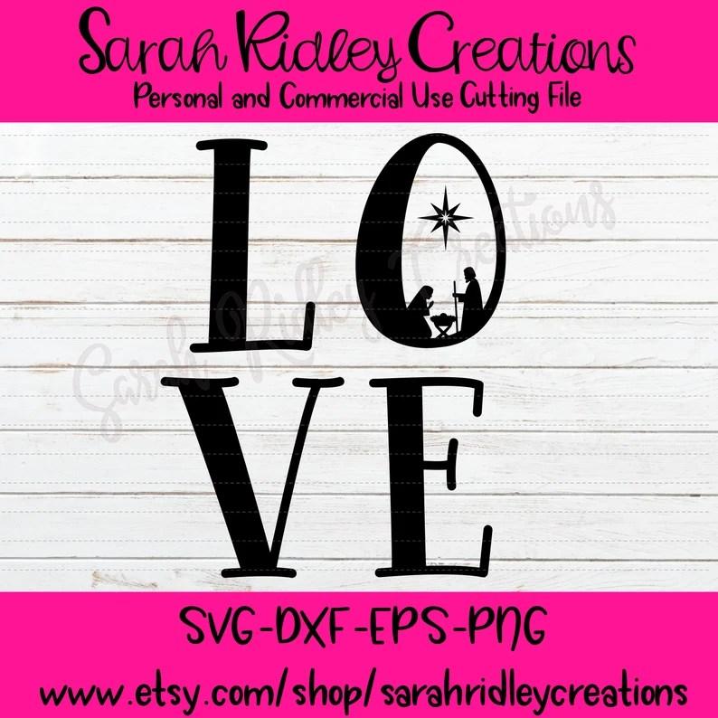 Download Love Nativity SVG Nativity SVG Christmas Day Svg Christmas ...