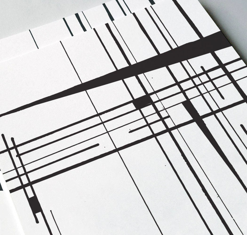 Crossing Lines Geometric Abstract Giclee Art Print