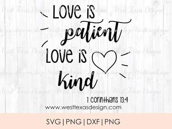 Download Love is patient love is kind SVG wedding verse wedding SVG ...
