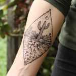 Black Cactus Flower Tattoo Novocom Top