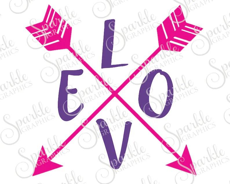 Download LOVE Arrow Cut File Valentines Day SVG Arrow svg Love svg ...