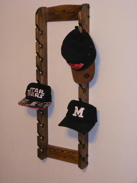 double cap rack hat rack cap organizer hanging hat rack etsy