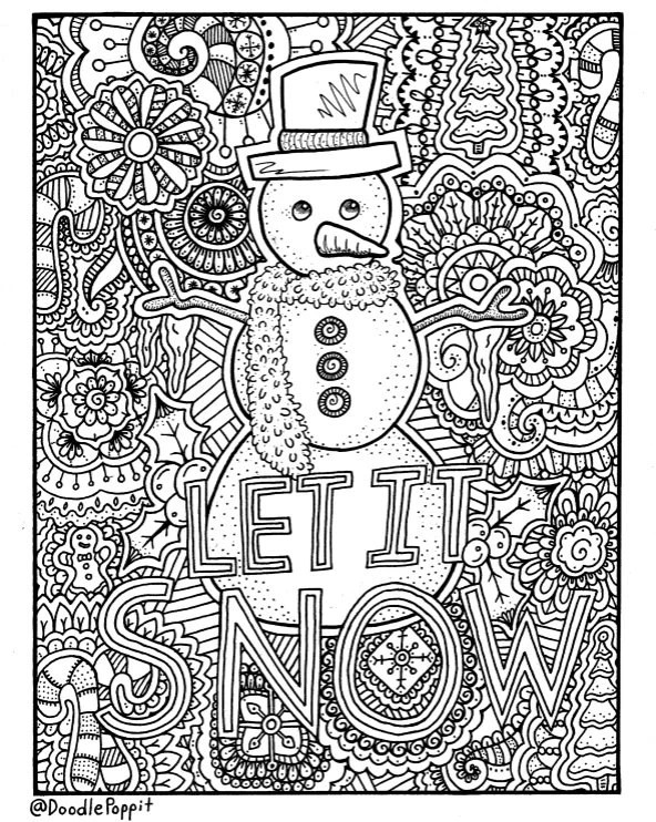 adult christmas coloring pages # 43