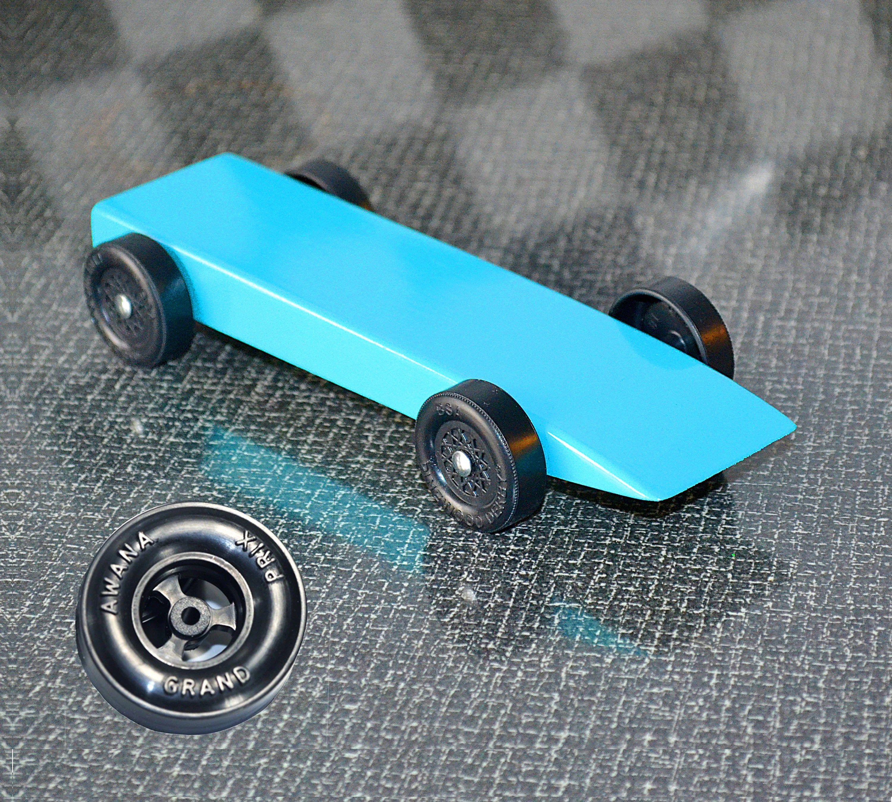 Fast Awana Grand Prix Pine Wood Derby Car From The