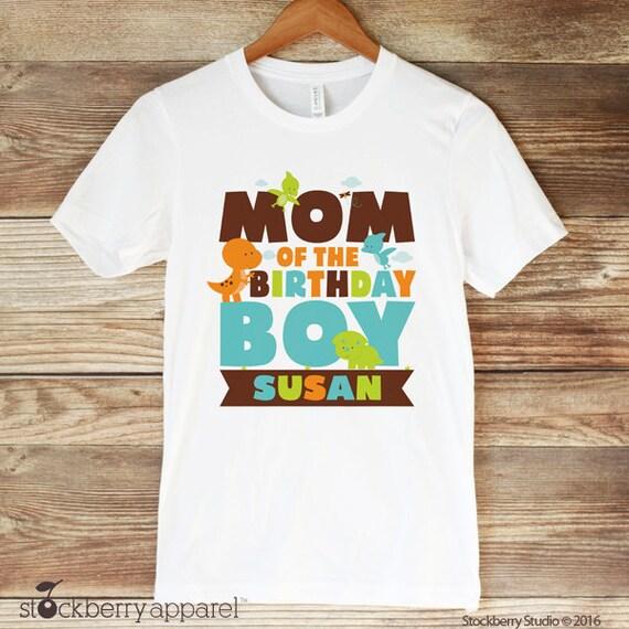 Dinosaur Mom Of The Birthday Boy Shirt Dinosaurs Birthday Etsy
