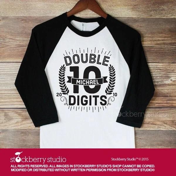 Tenth Birthday Shirt Boy 10th Birthday Shirt Double Digits Etsy