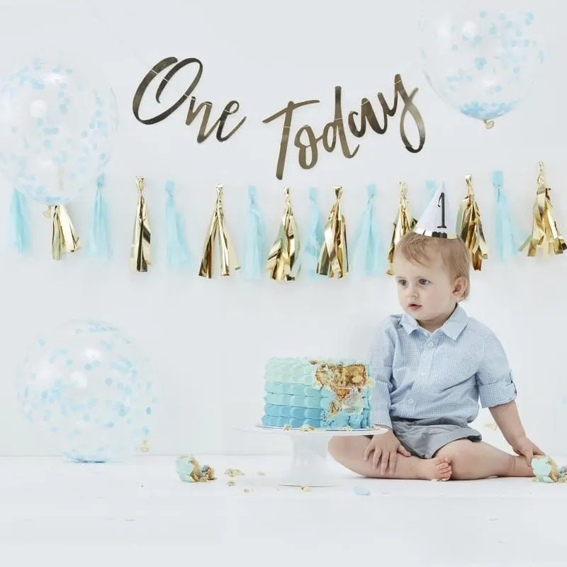 First Birthday Party Decorations Kit One Year Old Boy Etsy