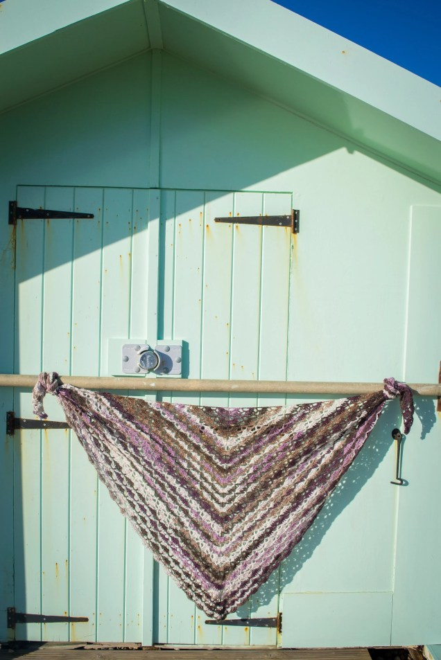 Handmade Crochet Multicoloured Brown/Pink Wrap Shawl