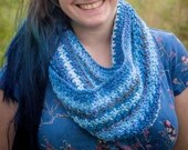 Blue Mixed Infinity Scarf/Cowl