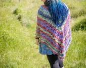 Handmade Crochet Multicoloured Wrap