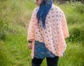 Salmon Handmade Crochet Scarf/Wrap