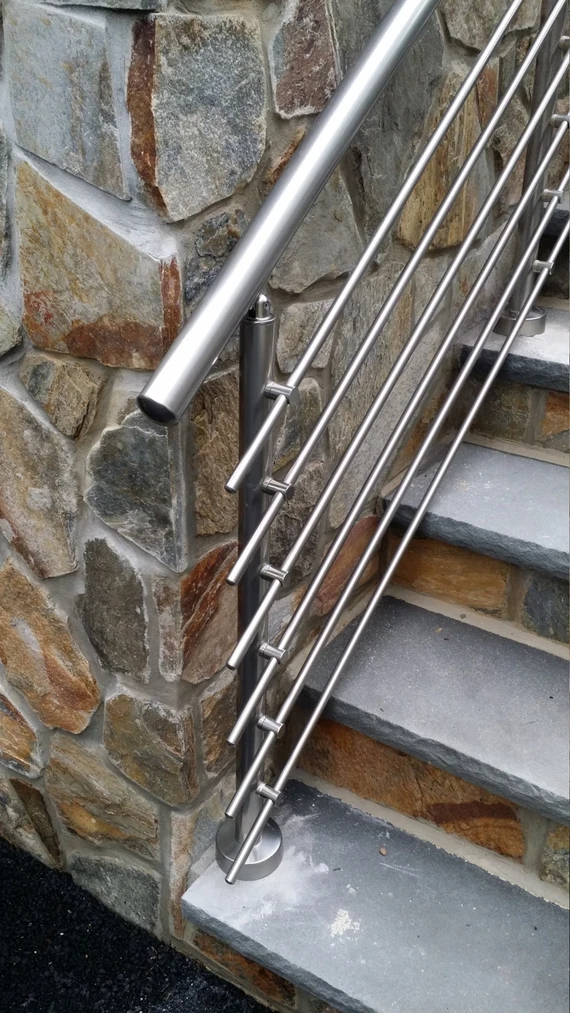 Modern Stairs Balcony Backyard Porch Patio Hand Rail Staircase Etsy   Aluminum Handrails For Concrete Steps   Stair   Wood   Front Porch   Back Patio   Mobile Home