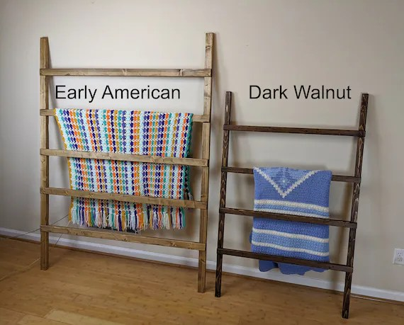 extra wide blanket ladder very large farmhouse quilt rack etsy