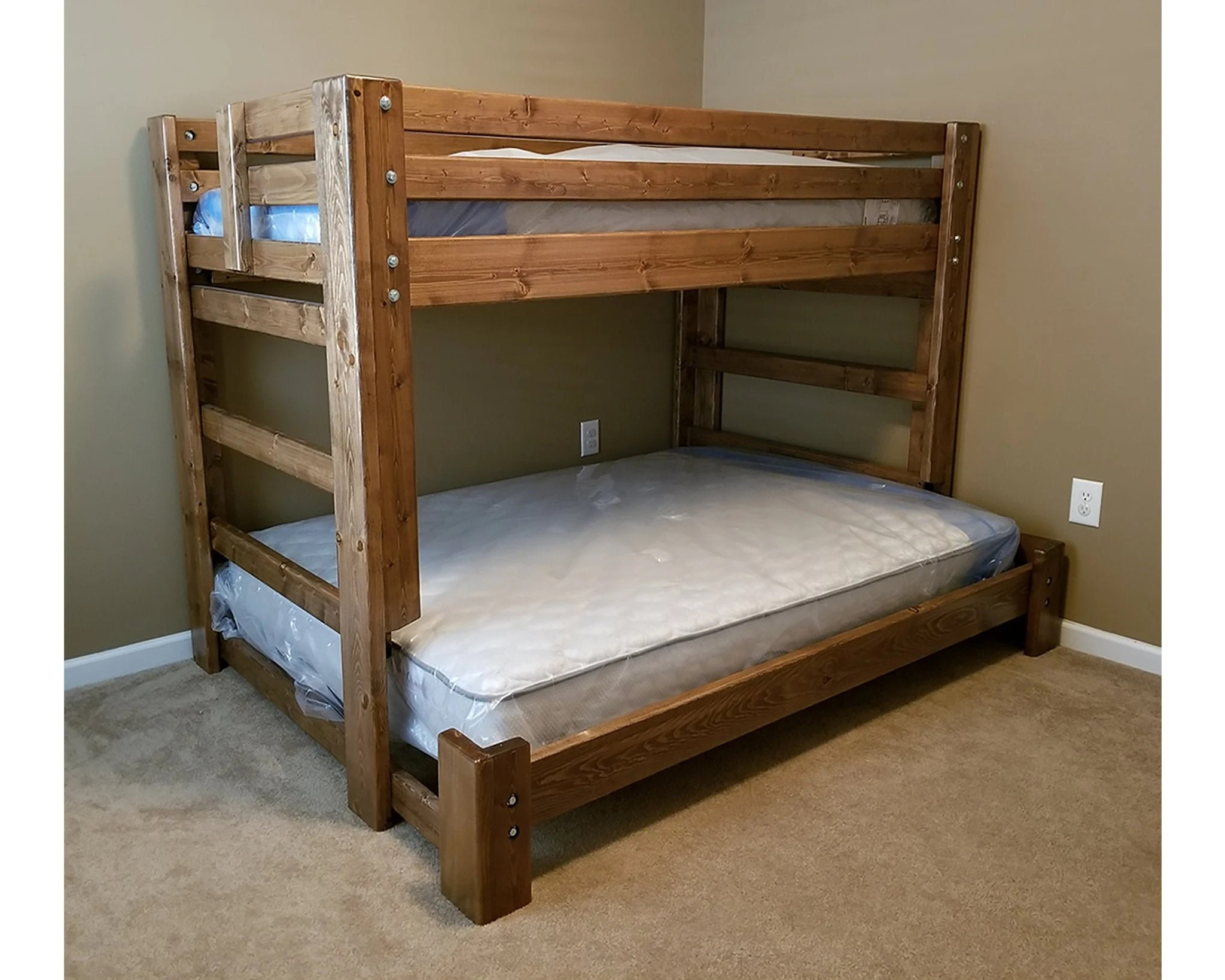 twin over full bunk bed unique bedroom bunk bed set solid wood furniture