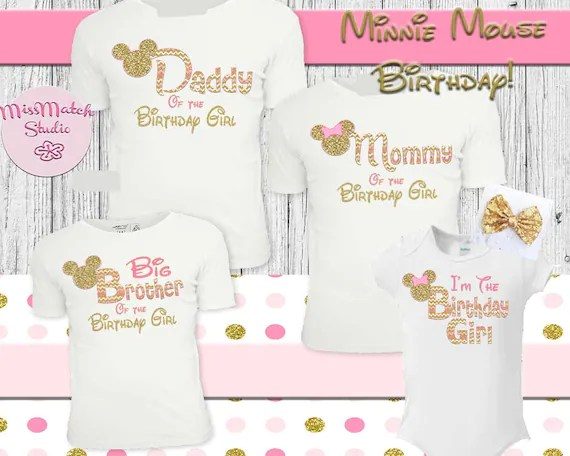 Minnie Mouse Birthday Shirts For Parents Buy Clothes Shoes Online