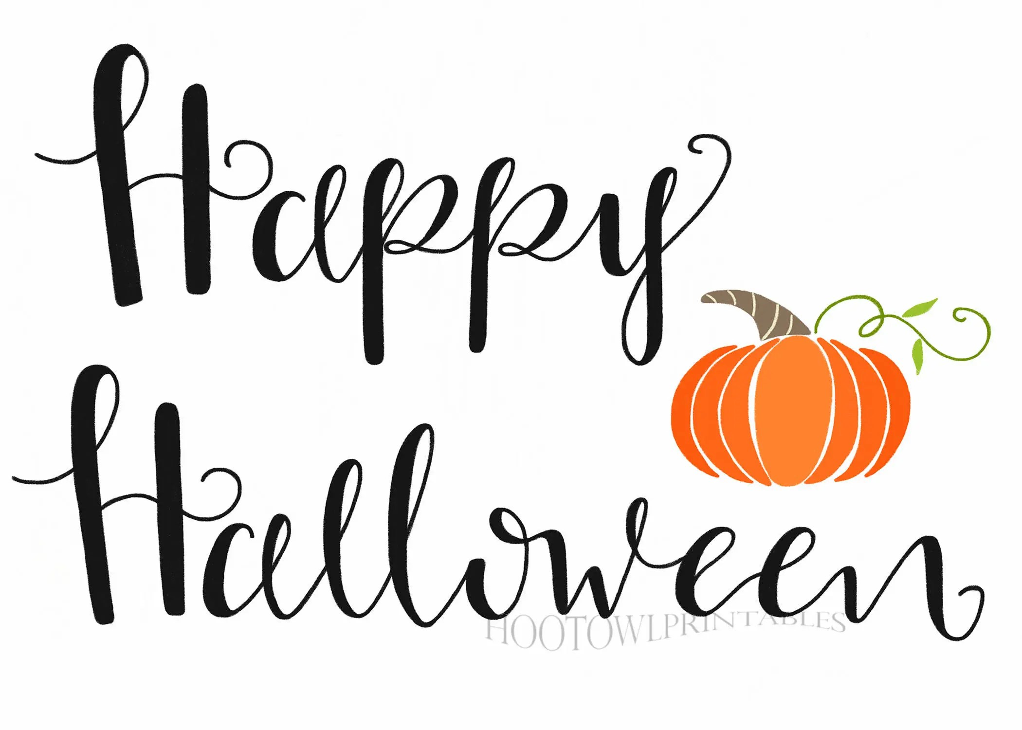 Halloween Printable Sign Halloween Decor Happy Halloween
