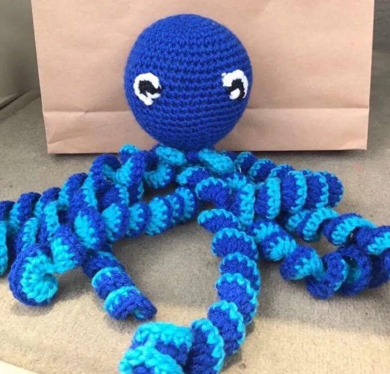 Premie octopus / Newborn ocotpus / baby preemie / crochet image 7