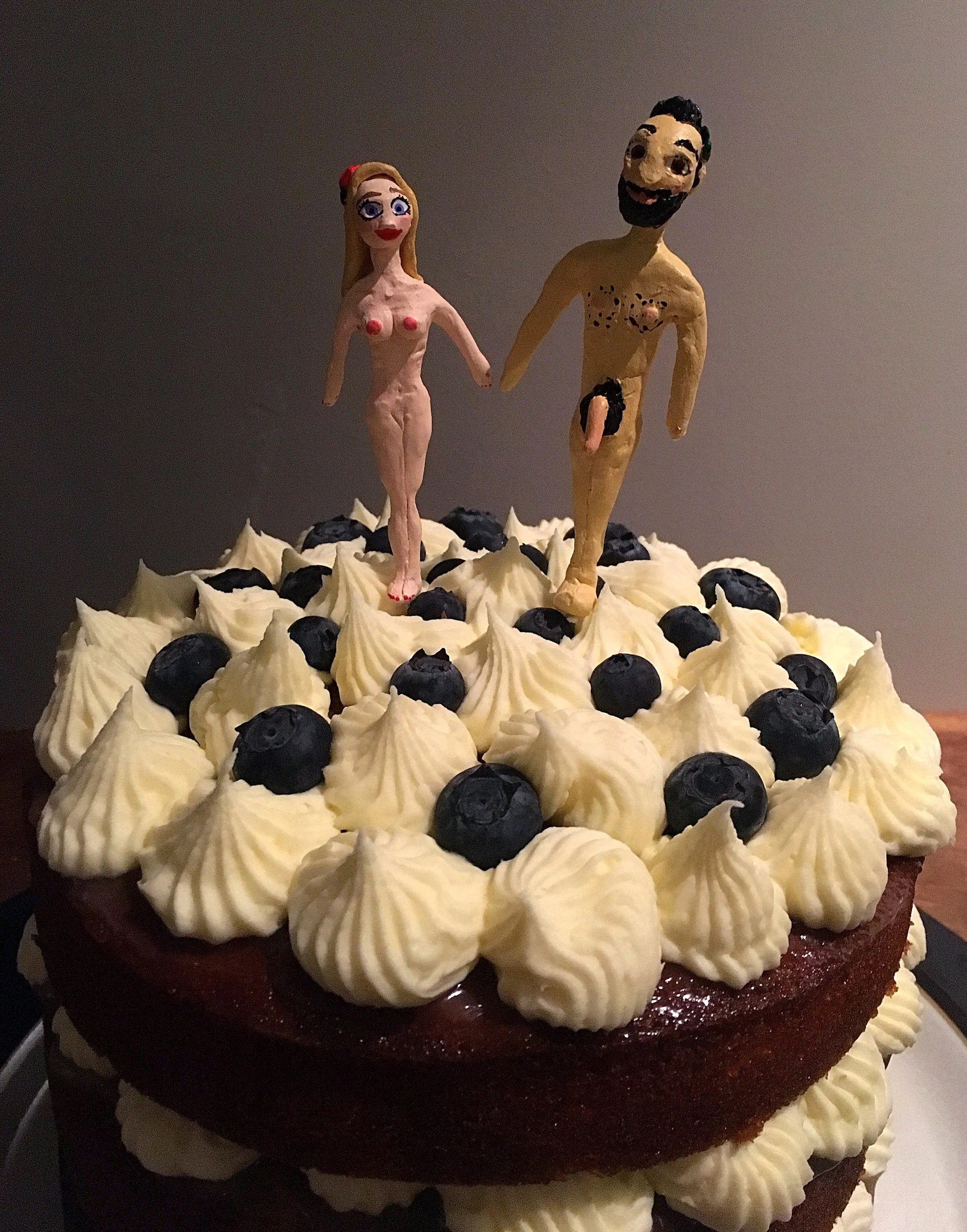 Wedding cake toppers   Etsy Custom made nude wedding cake toppers  naked cake toppers of the couple   Quirky cake toppers  custom portrait cake toppers