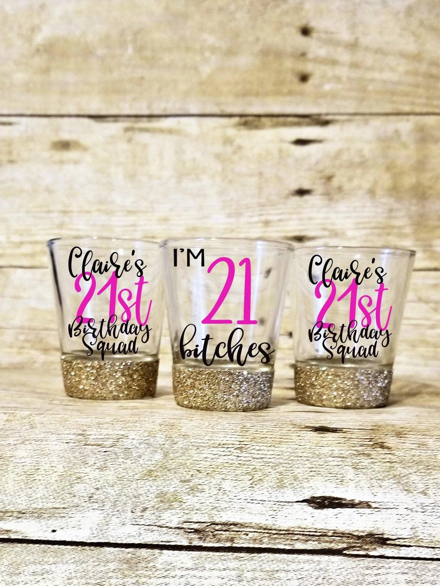 21st Birthday Shot Glass 21st Birthday Gift 21st Birthday Etsy