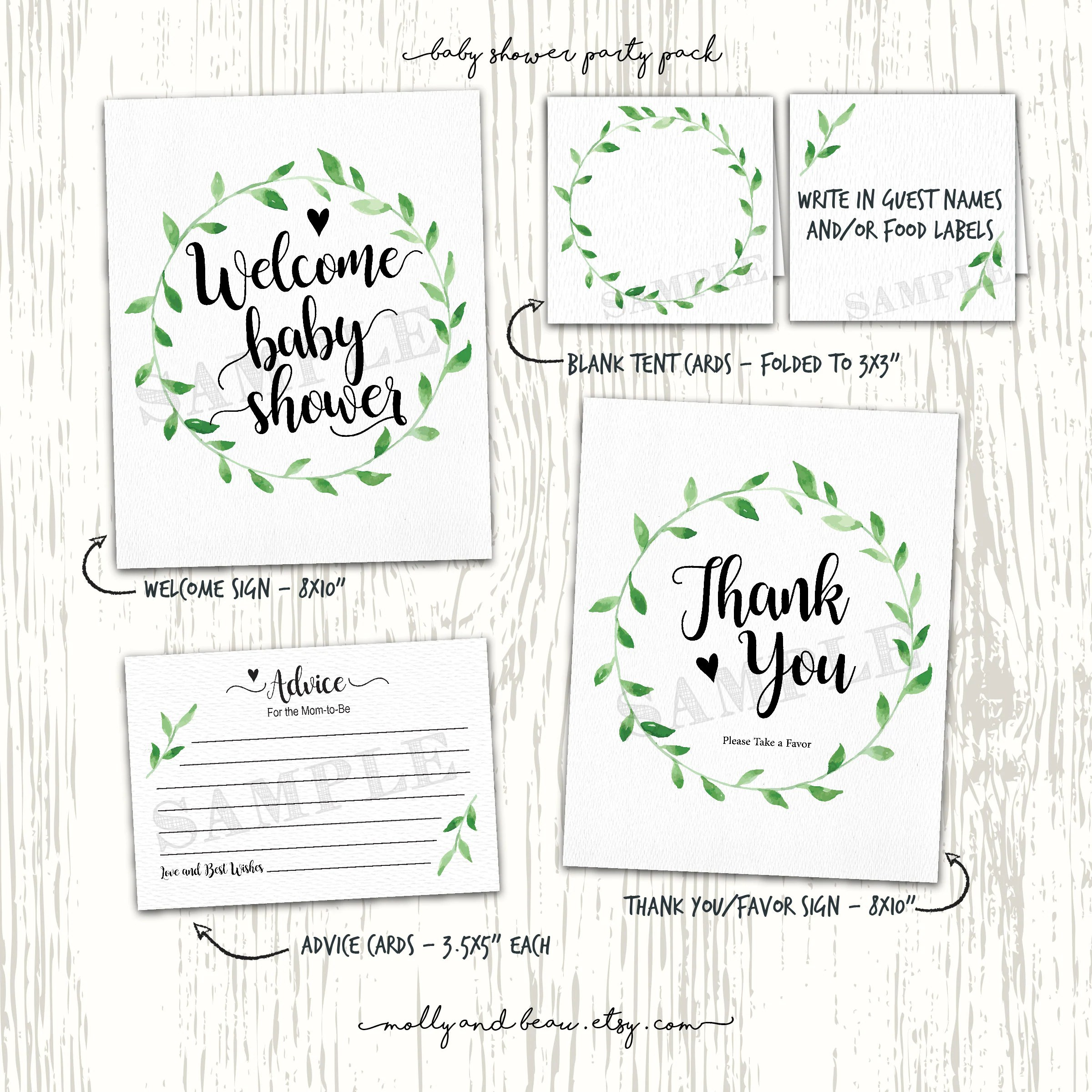 Gender Neutral Baby Shower Printables
