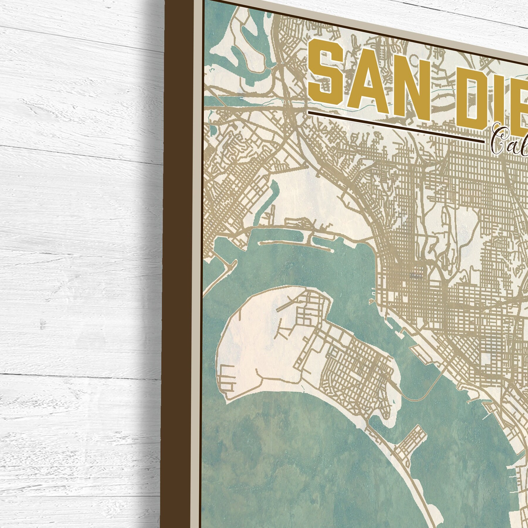 HD Decor Images » San Diego  California  San Diego City Map  Map of San Diego  Map     San Diego  California  San Diego City Map  Map of San Diego  Map Print  Vintage  Map  City Illustration  City Map  Street Map  Vintage Art
