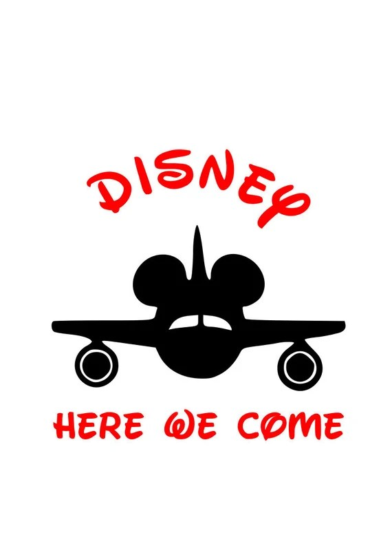 Download Disney Bound Disney here we come Vacation svg mickey plane ...