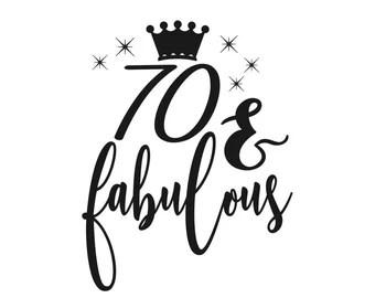 Download 70th birthday svg | Etsy