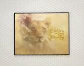 Lioness Art, Queen, Soul,...