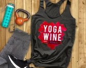 Yoga Wine Top, Wine Lover...