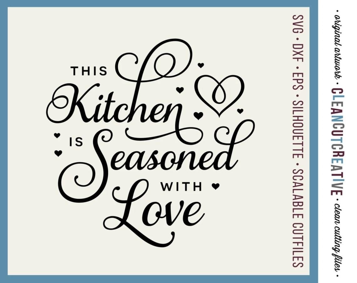 Download SVG Kitchen Seasoned with Love svg apron towel kitchen svg ...