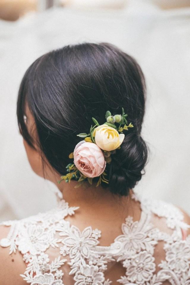 wedding hair accessories, flower hair comb, greenery hair comb, flower comb, flower hair piece, blush flower comb, mauve bridal hair piece