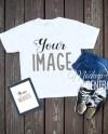Blank White T Shirt Top Apparel Mockup Fashion Design Styled Etsy