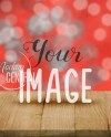 Blank Red Sparkle Valentine Table Product Background Mockup Etsy