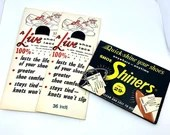 Shoe Shiners and Shoe Laces In Original Vintage Packaging A Live Shoe Lace Never Opened