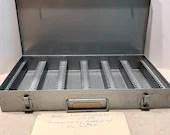 Brumberger Galvanized Steel Slide Storage Photography Slide Organization Vintage Storage Metal Box