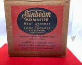 Sunbeam Mixmaster Meat Grinder  With Power Transfer Unit Food Chopper Attachment Vintage Mixer Add Ons