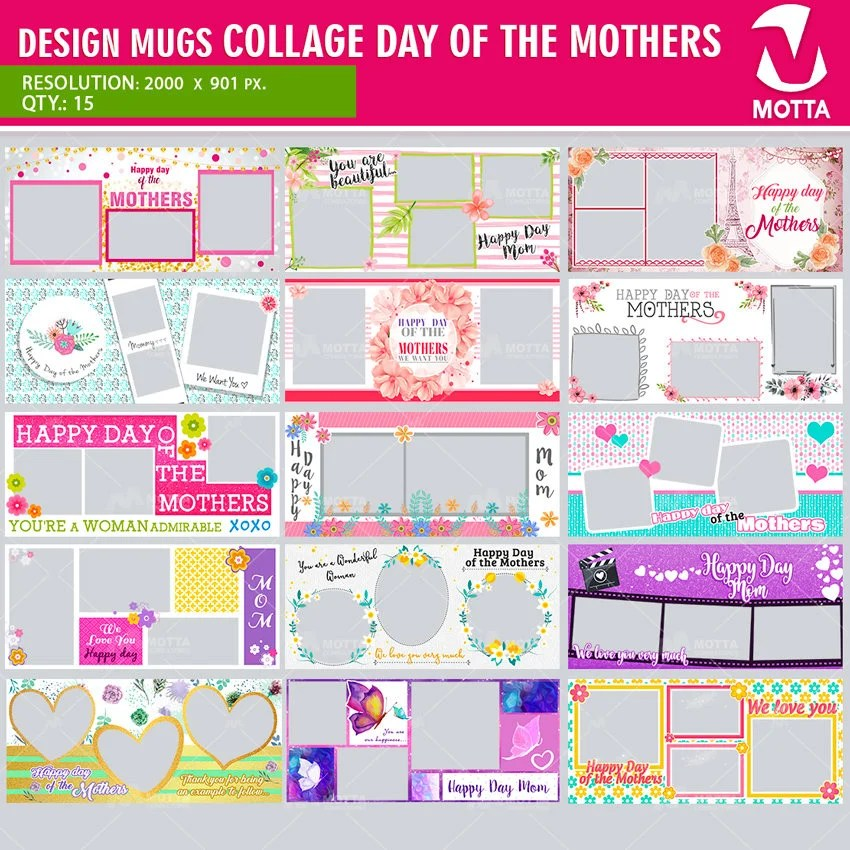 Sublimation Templates Psd Mother Collage Sublimation Template Sublimation Blanks Design Sublimation Design For Mugs Mug Template Mama