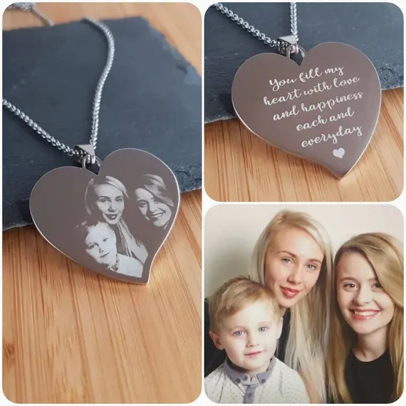 Personalised Photo Heart Necklace