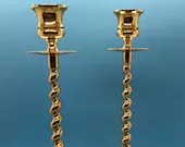 Baldwin Brass, Twist Candlesticks, Vintage Brass Candlesticks