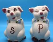 Vintage Anthropomorphic Pig Salt & Pepper Shakers-Adorable