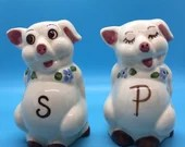 Anthropomorphic Pigs Vintage Salt & Pepper Shakers-Adorable
