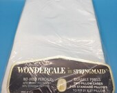 Wondercale by Springmaid White Vintage Percale Pillow Cases - New Old Stock