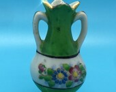 Miniature Vintage Ewer - Made in Occupied Japan - Hand Painted