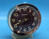 Retro Advance Wind Up Metal Alarm Clock