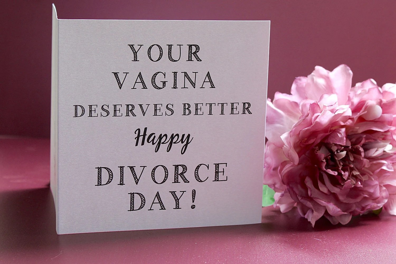 Divorce Card Relationship Break Up Card Cards For Women
