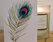 Peacock Note Cards