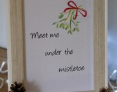 Christmas Mistletoe watercolour Print