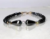 Hematite gemstone bracelet, arm candy bracelet, friendship bracelet